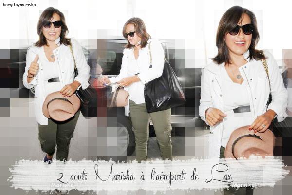 Mariska à l'aéroport de Lax / Photos  Vidéo