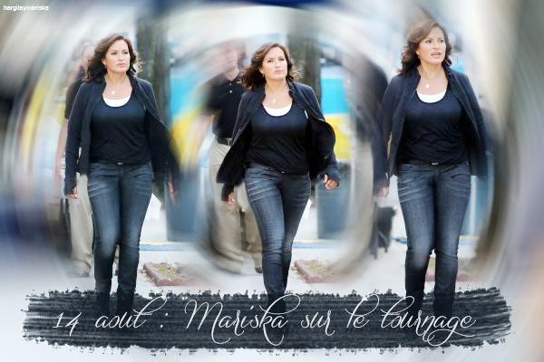 Mariska sur le tournage / Photos
