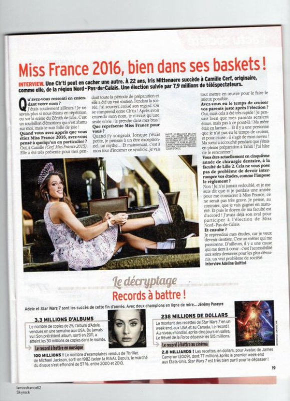 Iris - Point presse + cadeaux Miss France