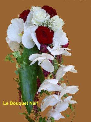 bouquet de mari e rouge et blanc fleurdutemps. Black Bedroom Furniture Sets. Home Design Ideas