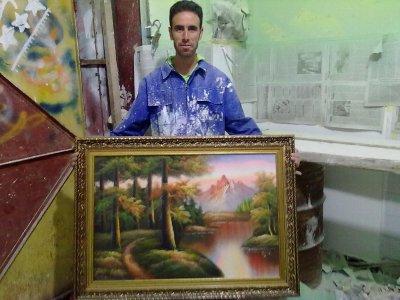 moi et mon tableau