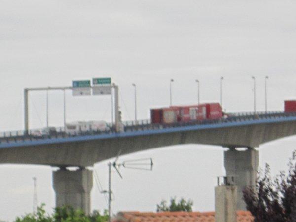 passage des convois du cirque Maximum sur le pont du martrou de Rochefort sur mer