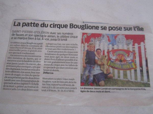 Le Cirque Joseph Bouglione ( anciennement Zavatta Landri ) en Charente Maritime !