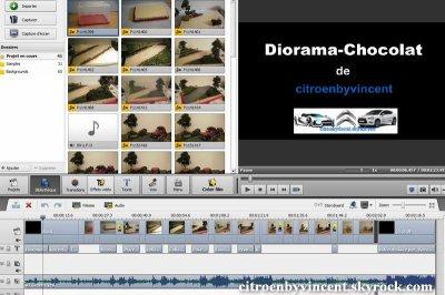 Diorama Chocolat - la vidéo est finie !!!