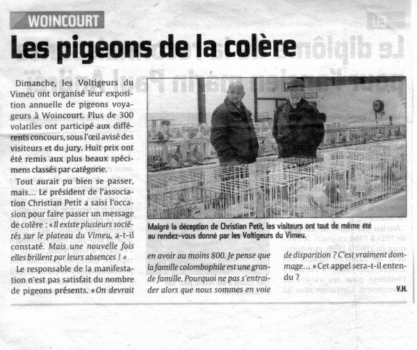 ( woincort) les voltigeur du vimeu exposition  du 02/02/14