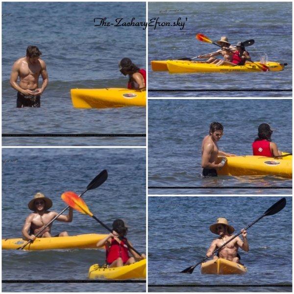 Le cutest couple a fait du Kayak pour le dernier jour à Hawaï (august 25) et l'on peut voir Zac shirtless !!!
