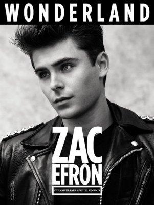 Vous vous rappelez le 11 juillet dernier , Zac faisait un photoshoot pour le magasine Wonderland pour le numéro septembre/octobre . Et bien en  voici une couverture