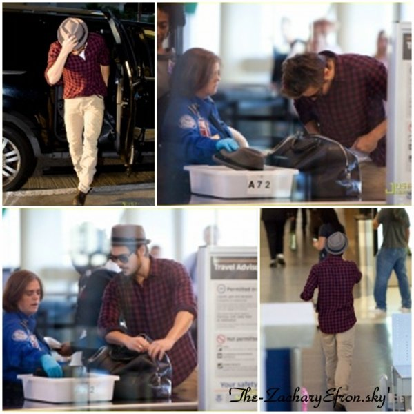 Zac était à LAX Airport à Los Angeles hier (9 septembre)