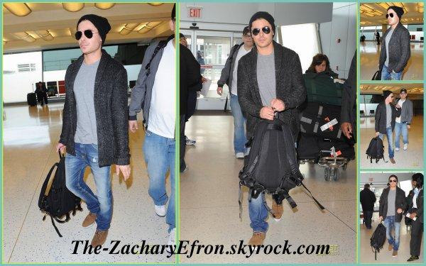 Salut à tous !!! Zac a quitté New York City hier 5 Mars! Ce mec  est toujours bien habillé! J'adore ses lunettes aviator , je trouve qu'il les porte bien ;) Bref, voici les photos ci-dessous ^^