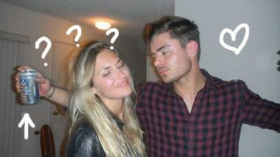 Voici 3 photos de Zac qui font scandale(pas pour moi en tout cas)  avec une blonde du nom de Victoria Palmeri qui nous est inconnue ! C'est qui cette fille et fesant la fête dans un appartement de El Lay plus tôt cette semaine
