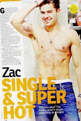 Bonjour !!!  Voici des photos de Zac sur un magazine , le NW Magazine. On peut le hot & sexy !!! ^^ Il a aussi un tatouage sur le bras droit ! So HOT !!! lol