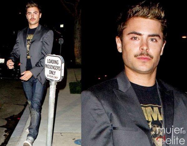 Hi!!! Zac a été vu marchant dans les rues ^^ Vous avez vu sa nouvelle moustache ! Vous en pensez quoi ? En tout cas moi ça me change ^^  En plus , il a vachement maigrit ! C'est bien Zac!!! Il laisse pousser sa barbe pour le festival Coachella qui a lieu cet été ;)