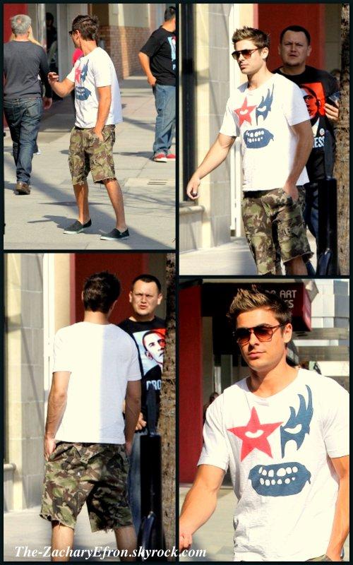 Re! Voici de nouvelles photos de Zac lors de sa sortie à Studio City :) Enjoy!!!