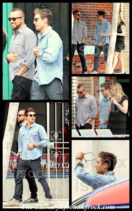 Bonjour tout le petit monde!!!! Zac était de sortie avec des amis dans les rues de Los Angeles! Le 18 Avril