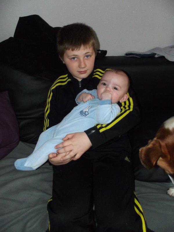 moi et mon petit cousin