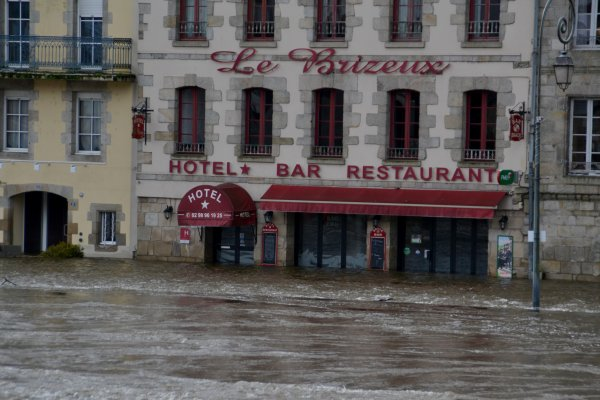 Inondation à Quimperlé 8 fev