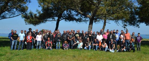 Balade en moto pour une bonne cause .18 mai st julien Quiberon