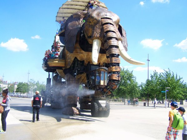 Les Machines de l'île à Nantes photos prises par Nicolas lors de sa sortie scolaire aujourd'hui.