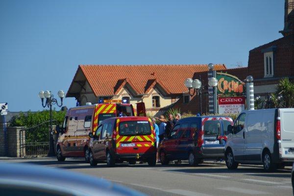 Accident devant le casino tout à l'heure ,une personne en scooter a renversé une dame de 65 ans qui traversait la route. —