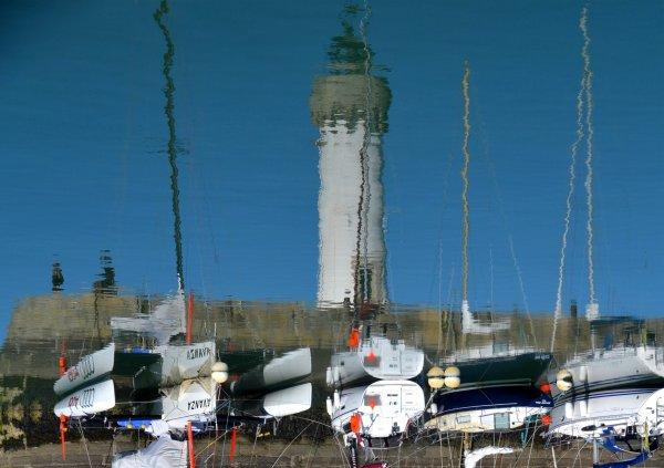 A port Haliguen les bateaux sont à l'envers????
