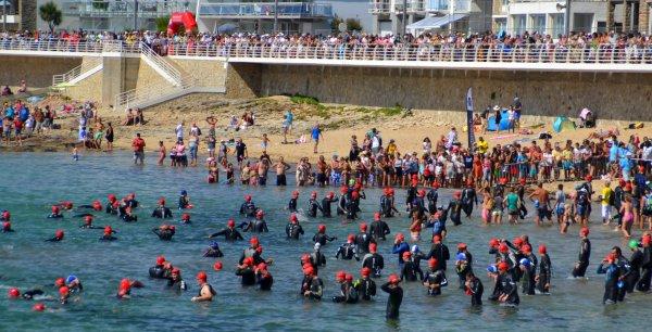 Départ du triathlon 7 sept 2014 Quiberon