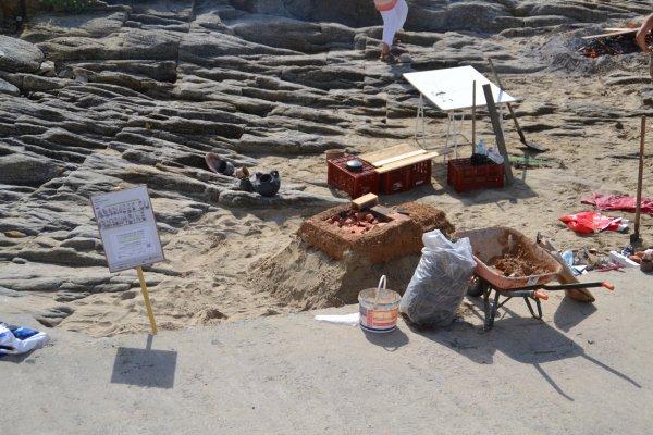 Construction de fours à la façon des celtes grande plage