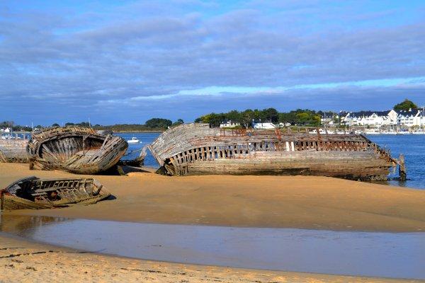 Cimetière de bateaux du magouer 26 oct