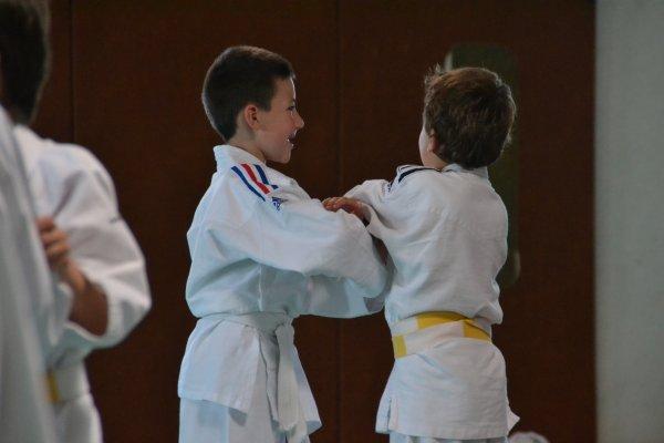 Corentin au Judo; rencontre avec ETEL