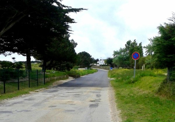La frontière entre Quiberon et St pierre Quiberon