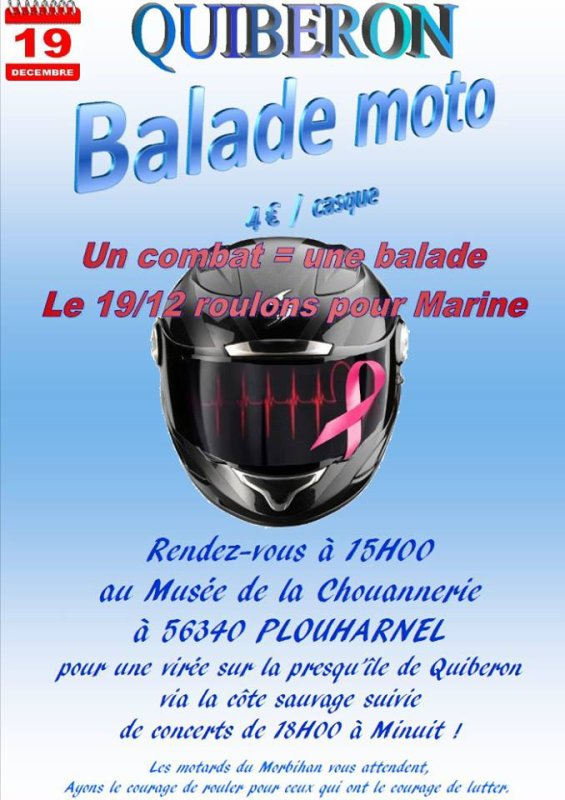 Balade à moto suivie de concerts au bar le roof le 19 dec