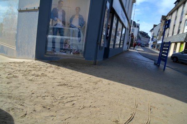 La grande plage s'est agrandie