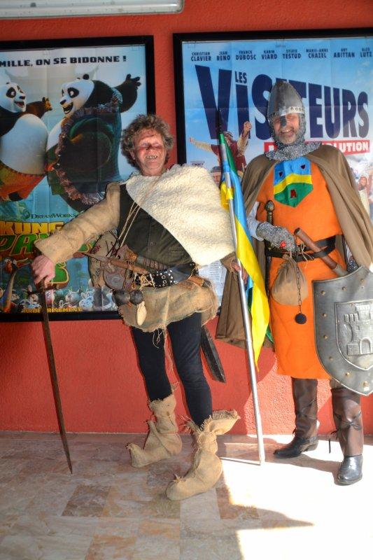 Les visiteurs en personne au cinéma le paradis 10 avril 2016