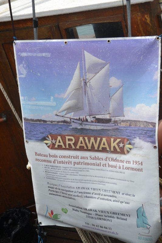 Arrivée de l'ARAWAK aujourd'hui à Quiberon il était à ETEL dimanche dernier