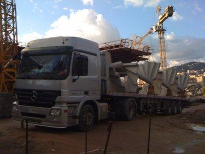 Mon ensemble transport escalier pr fabriqu corsica trucker for Escalier prefabrique