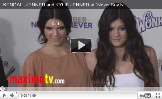"""Kendall & Kylie étaient présente à l'avant première de """"Justin Bieber Never Say Never Premiere"""" à L.A, ce 8 février . Comment les trouvez vous ? ♥"""