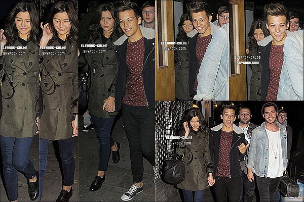 . 04.10.12 : Eleanor était avec Louis et quelques amis quittait le« The CornerShop » à Hackney..