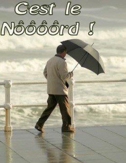 il pleut toujours dans le nord .