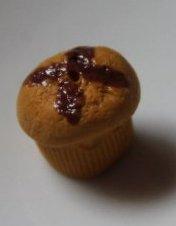 Muffin + coulis de chocolat