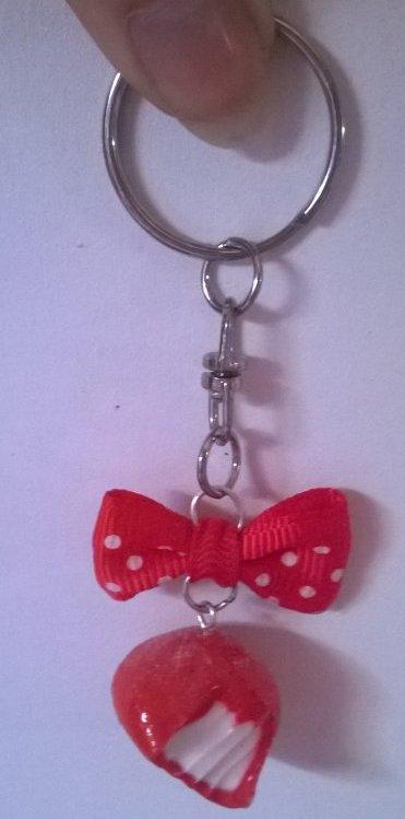 Porte-clé fraise tagada