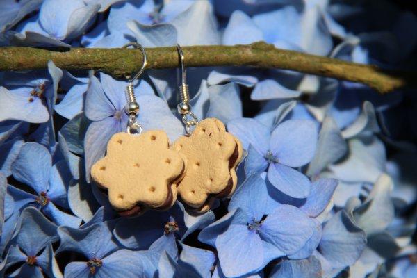 Boucles d'oreilles biscuits