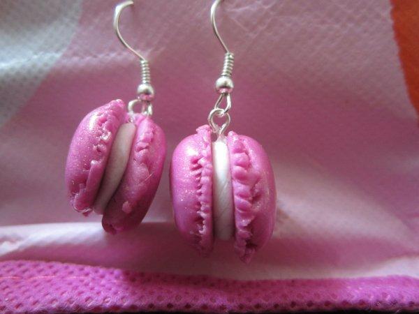 Boucles d'oreilles macarons