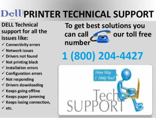 Dell Printer Support Number 1-800-204-4427