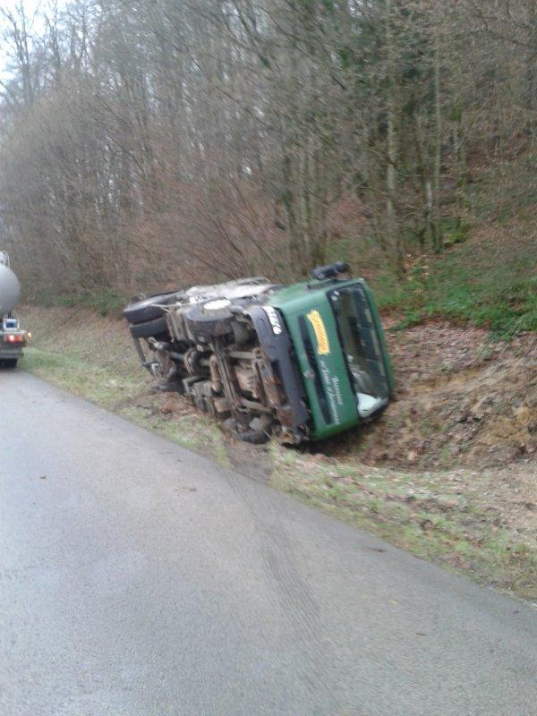 accident camion de lait