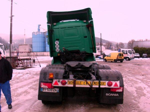 accident sur la neige un marbre