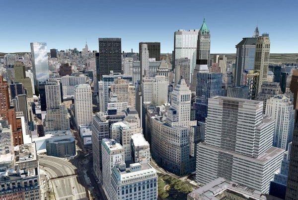 New york vue de haut, la journée.