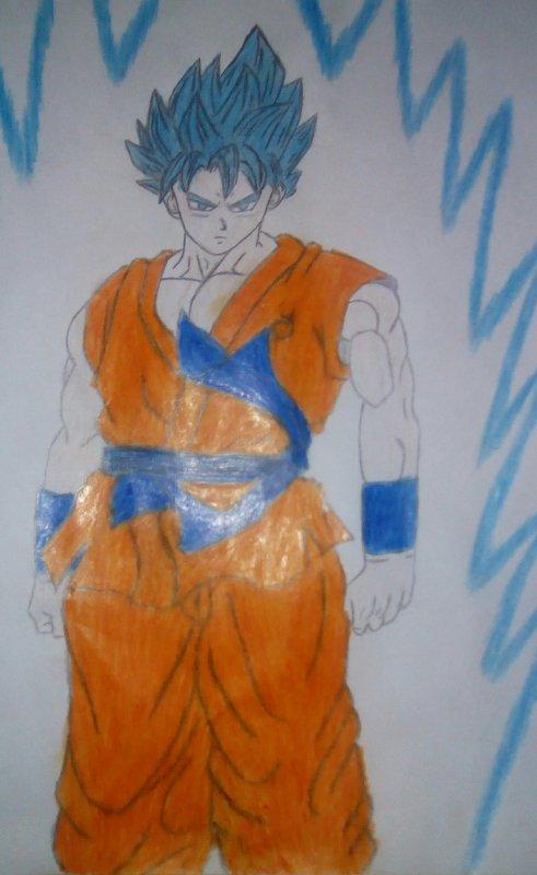 Goku, super saiyan god fait par moi