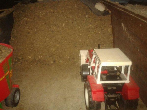 Désilage avec les 2 nouveaux tracteur