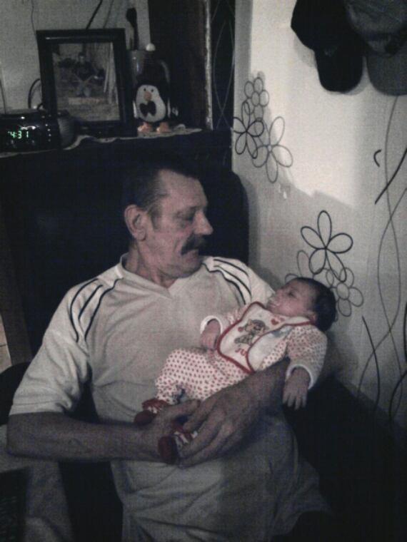 Mon père et Alizée ma nièce