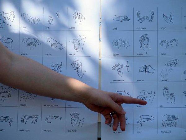 LANGUE DES SIGNES DES INDIENS DES PLAINES 1ère séance du stage à l'exposition du QUAI BRANLY