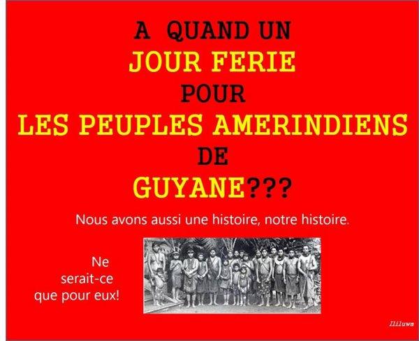 POUR NOS AMERINDIENS DE GUYANE